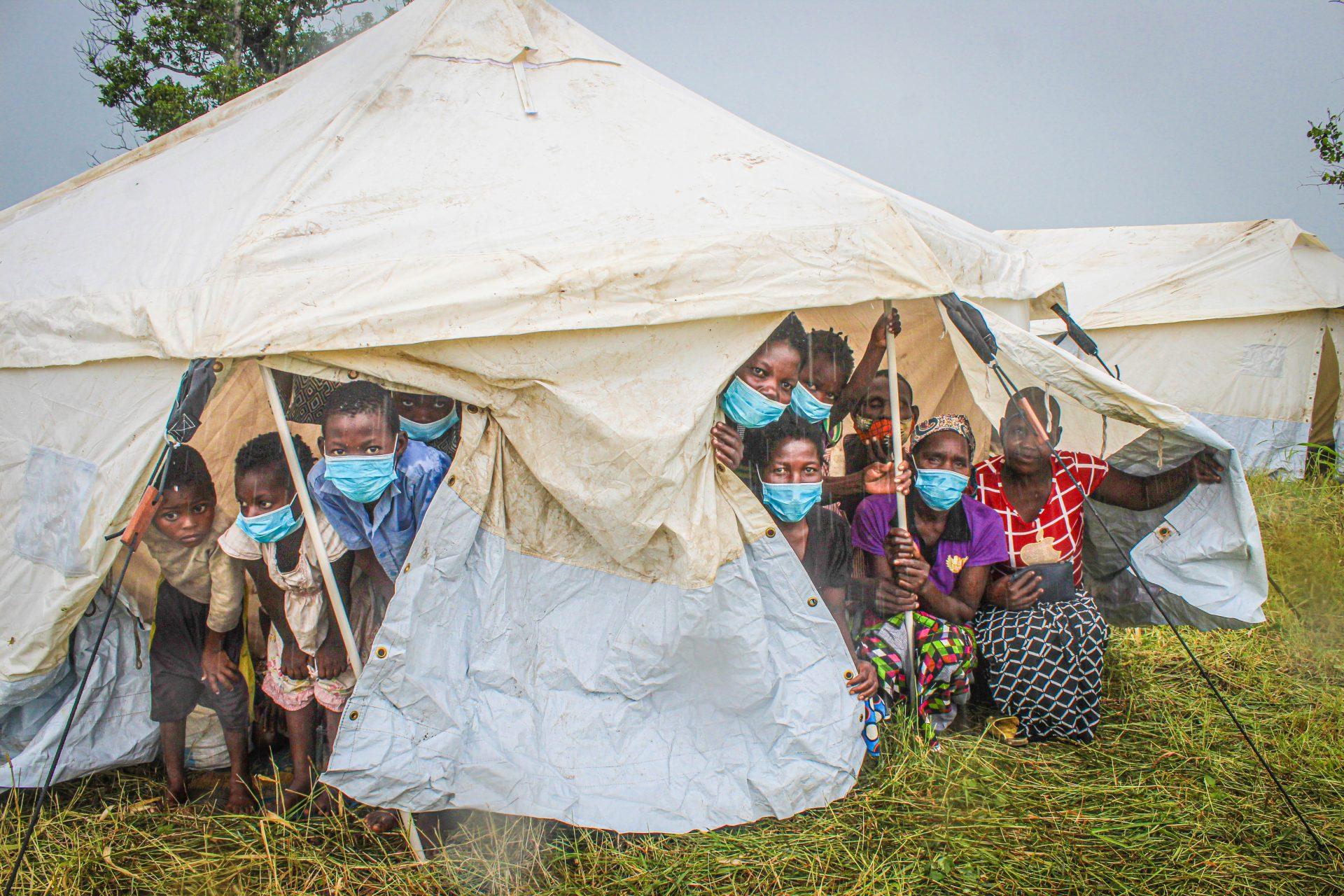 Acomodação das famílias afetadas pelo Ciclone Eloise na província de Sofala